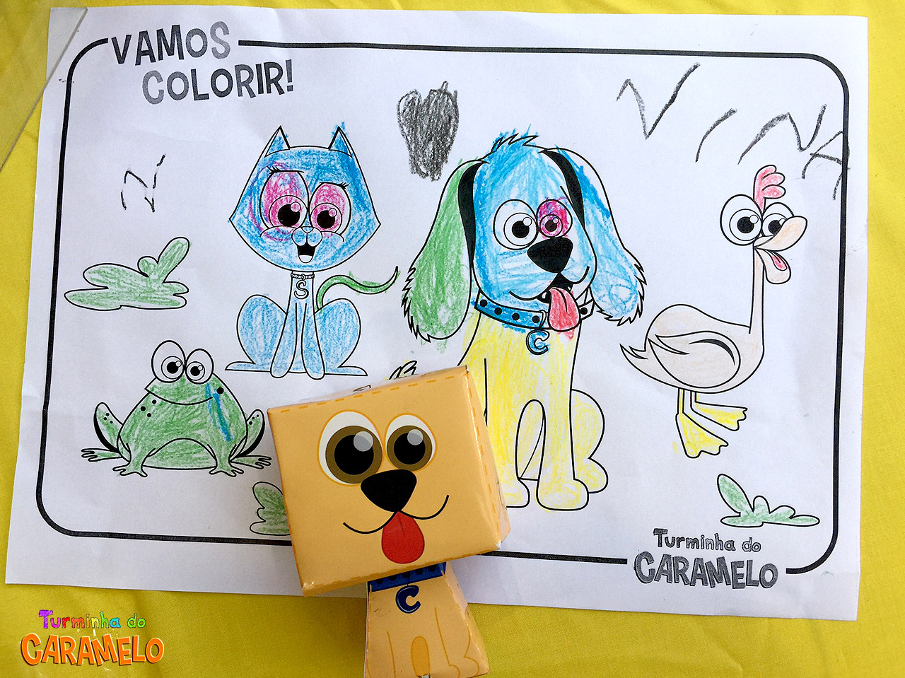 Paper Toy - cachorro caramelo